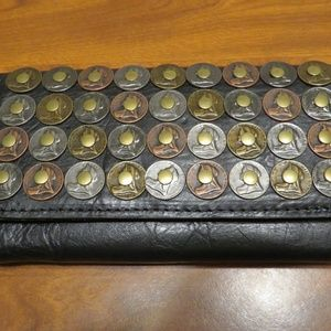 PATRICIA NASH SIGNATURE COIN-EMBELLISHED WALLET
